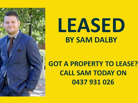 LEASED BY SAM DALBY application received