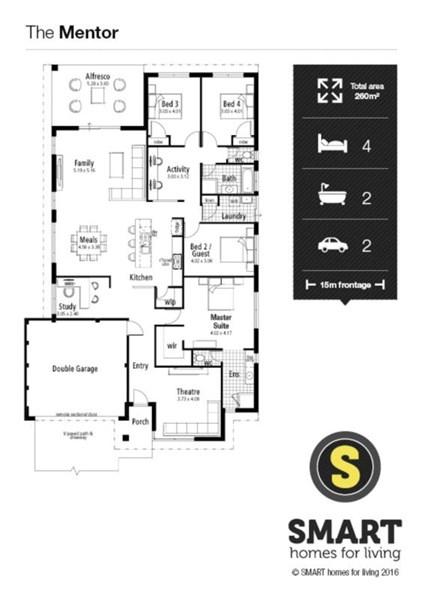 Floorplan for Lot 650 Treendale Riverside Australind