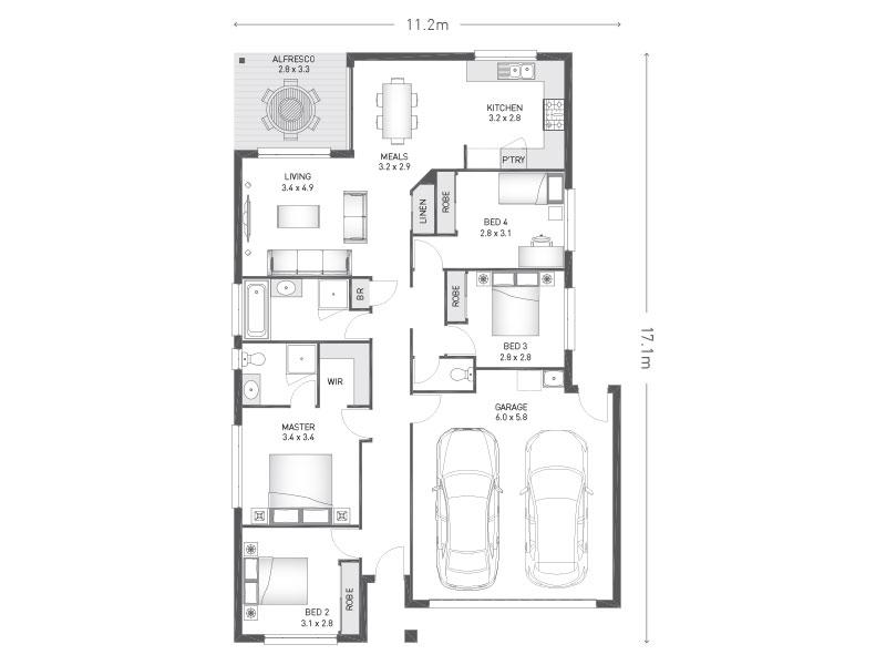 Floorplan for Lot 193 Burrum Thornlands