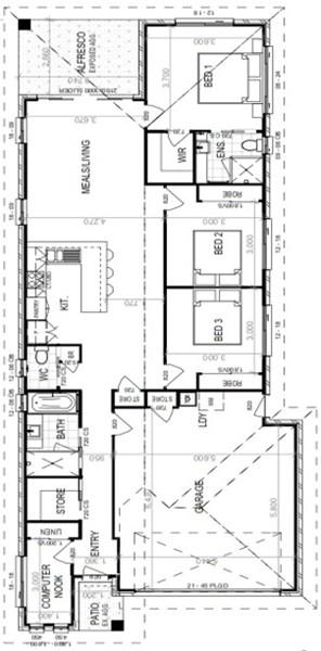 Floorplan for Lot 540 Tallowwood Street Caboolture South