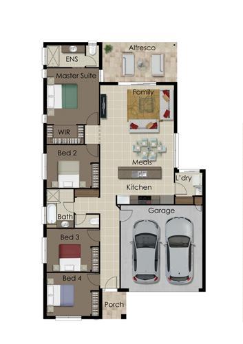Floorplan for Lot 194 Splendour Circuit Yarrabilba