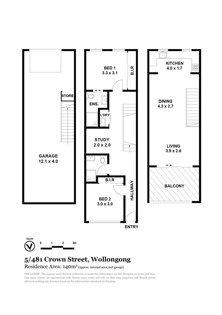 5/483 Crown Street, West Wollongong NSW 2500 Floorplan