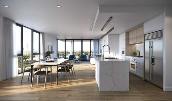 $735,000 Penthouse Level, 2 Bed Apartment
