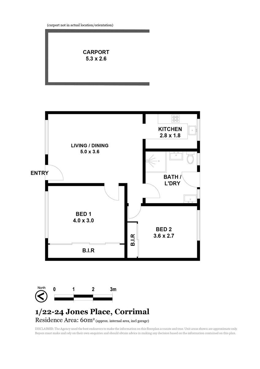 1/22-24 Jones  Place, Corrimal NSW 2518 Floorplan