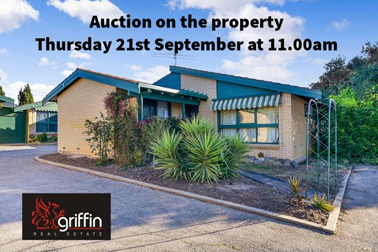AUCTION Thursday 21st September at 11.00am on the property