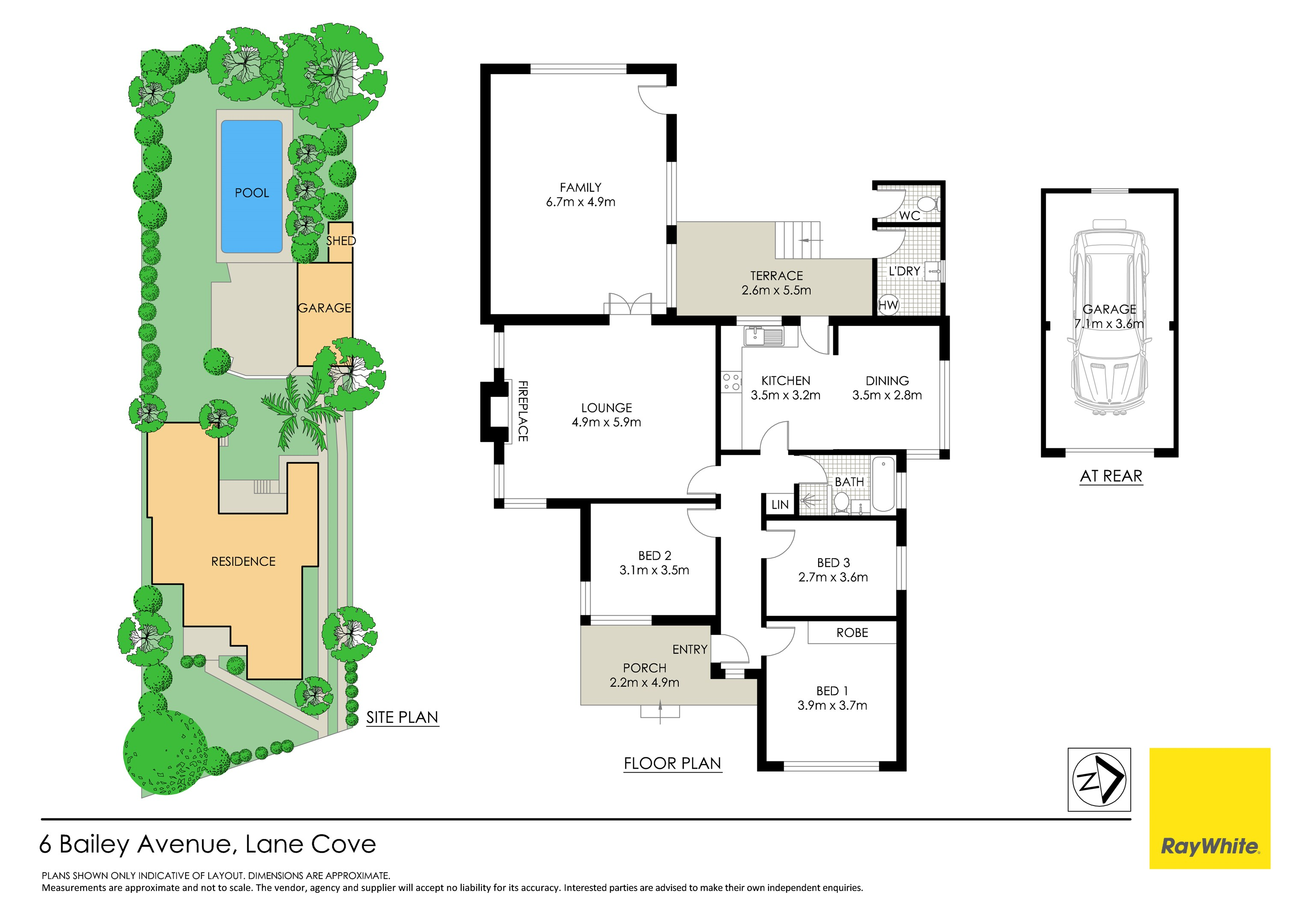 Property Report for 6 Bailey Avenue, Lane Cove North NSW 2066 on