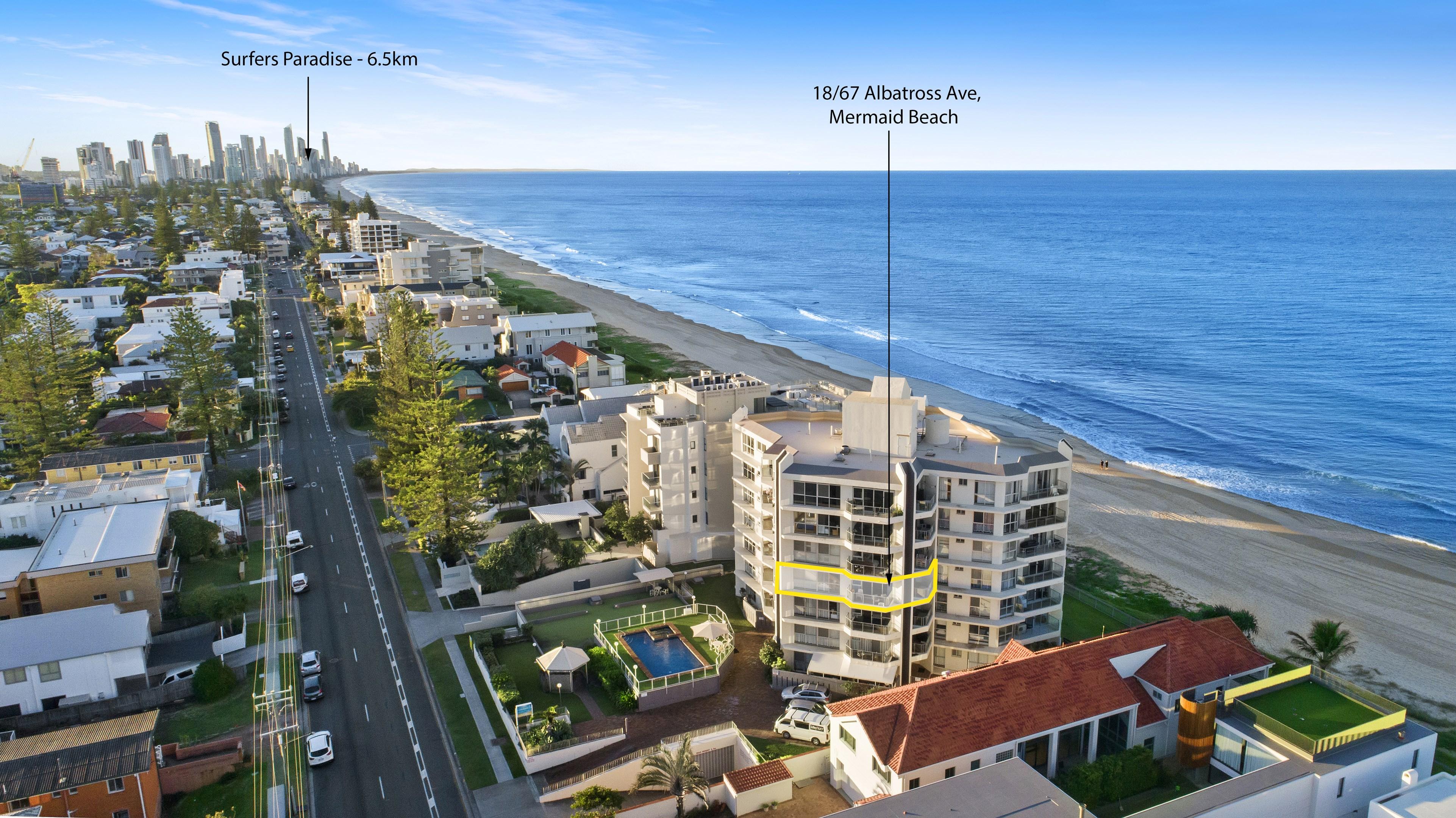 18/67-71 Albatross Avenue, Mermaid Beach QLD 4218 - Apartment For
