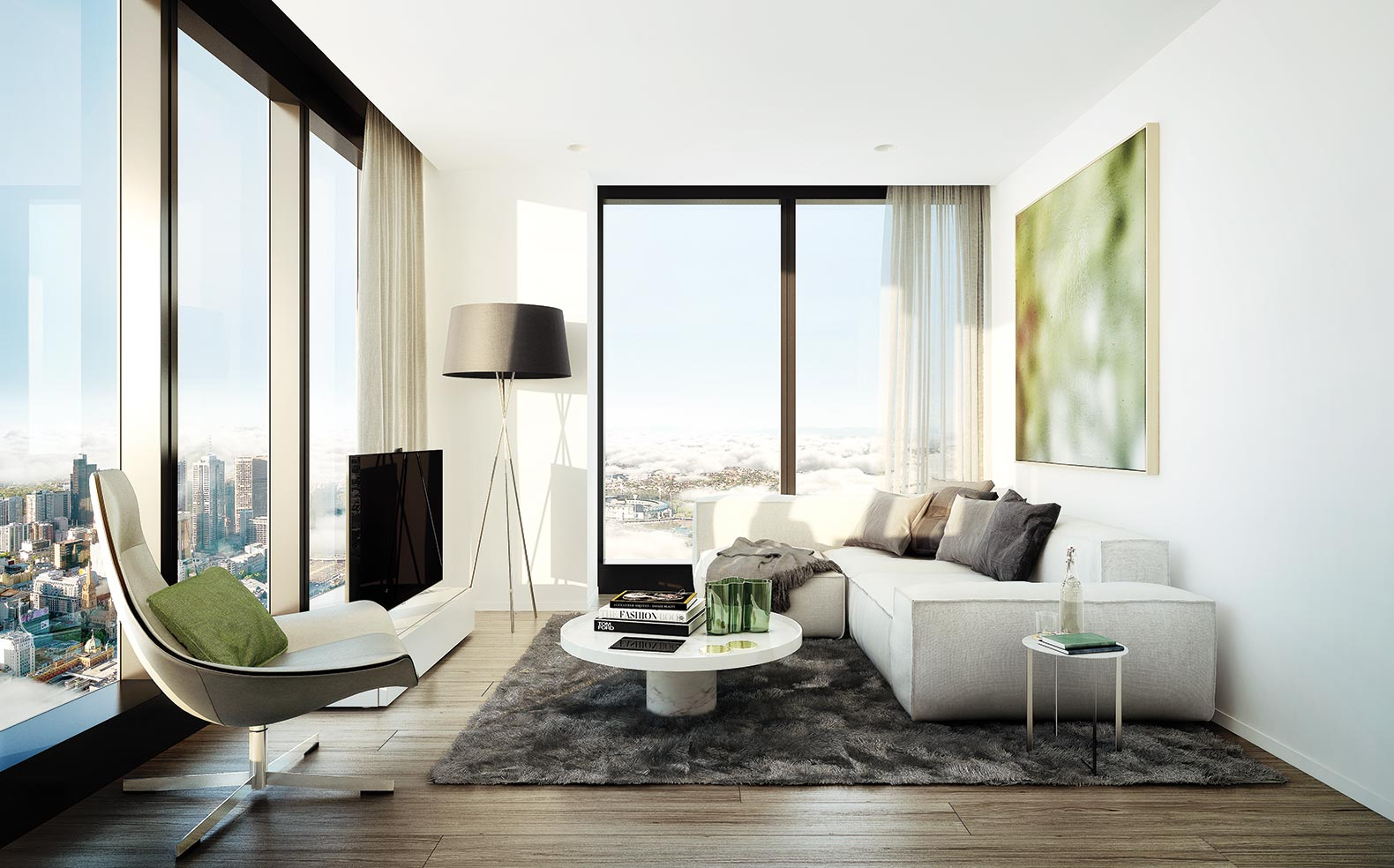 Contemporary Apartment Design Melbourne Star U In Inspiration