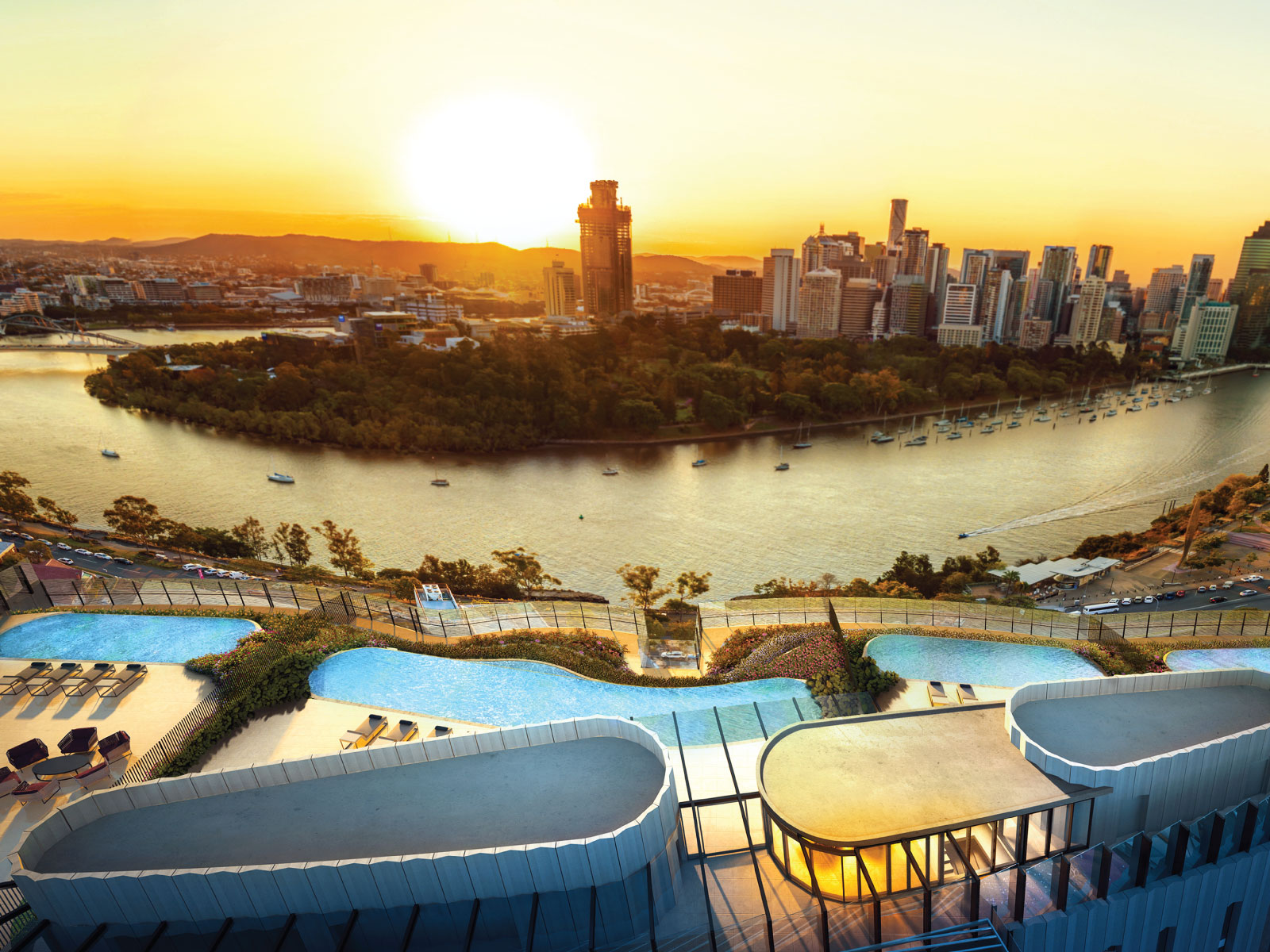 108 48 river terrace kangaroo point qld 4169 off the for 2 river terrace