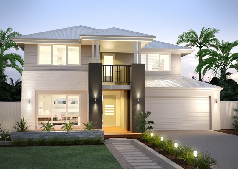 Lot 10 new road murrumba downs qld 4503 off the plan for Modern double storey houses