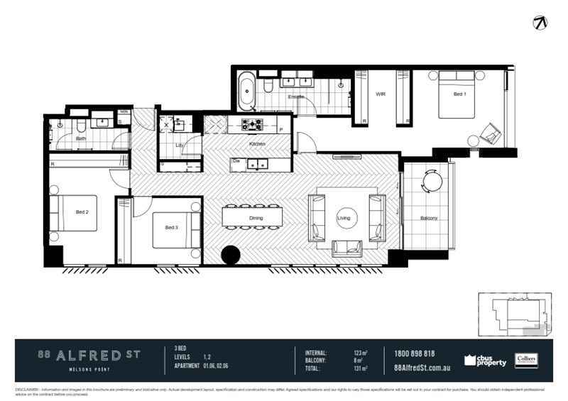 106 88 alfred street milsons point nsw 2061 off the for Kirribilli house floor plan