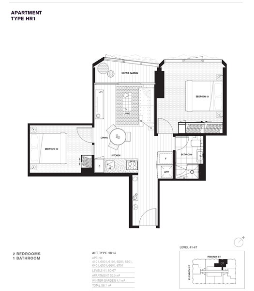 6701 450 elizabeth street melbourne vic 3000 off the for Apartment floor plans melbourne