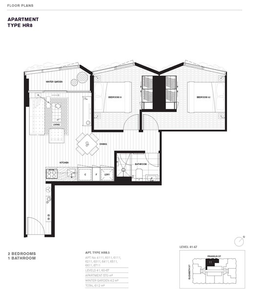 6711 450 elizabeth street melbourne vic 3000 off the for Apartment plans melbourne