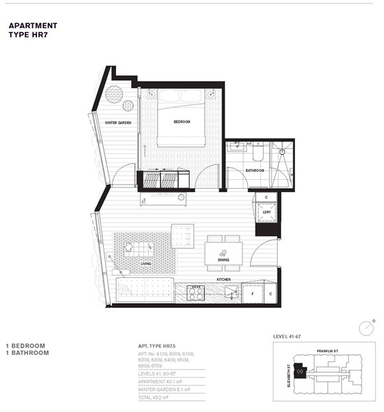 6709 450 elizabeth street melbourne vic 3000 off the for Apartment floor plans melbourne
