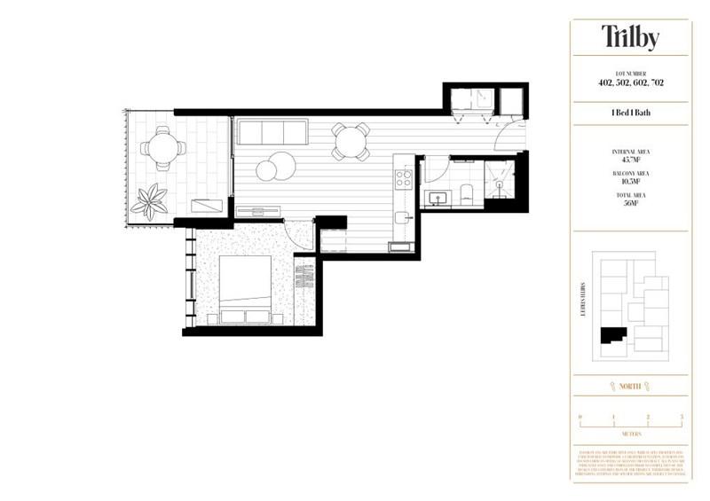Floorplan for 402/466-482 Smith Street Collingwood
