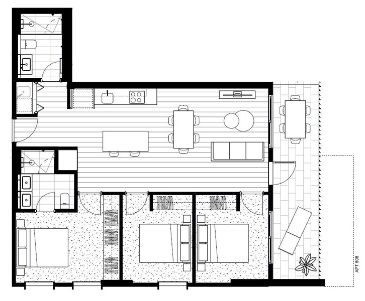 Floorplan for 809/466-482 Smith Street Collingwood